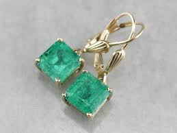 emerald drop emerald drop earrings in yellow gold market square jewelers