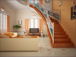kerala home design staircase living area and stair area living room interiors pdf