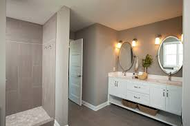 bathroom paint colors farmhouse with walk in shower transitional