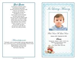 Free Funeral Programs Funeral Program Templates Blue Teddy Bear Template