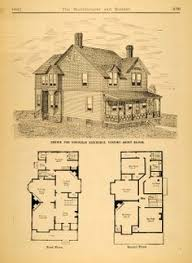 Victorian Home Floor Plan 1878 Print Victorian Villa House Architectural Design Floor Plans