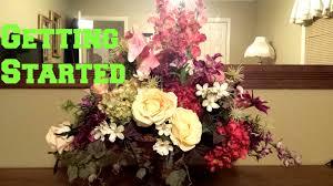 arranging a silk flower arrangement getting started preserved