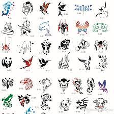 100 designs temporary airbrush tattoo stencil animal book airbrush