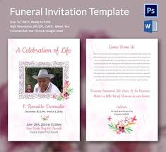 funeral invitation template free celebration of template free and celebration of