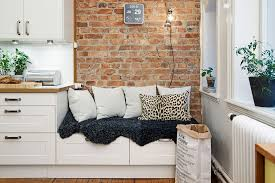 brick wall apartment charming small studio apartment with spacious kitchen