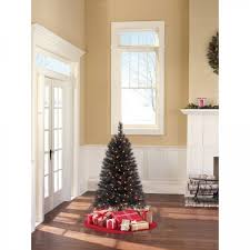 artificial tree pre lit 4 ft spruce black trees