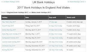2017 uk bank holidays your meme
