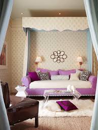girls bedroom attractive pink purple teenage room decoration