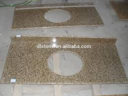 One Piece Bathroom Vanity Tops by Yellow Granite Bathroom Vanity Top And One Piece Bathroom Sink And