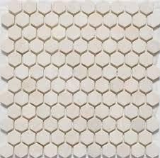 Hexagon Tile Bathroom Floor by Upstairs Bathrooms Floors Honed Hexagon Crema Marfil Tile