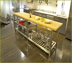 stainless steel kitchen island with butcher block top t4akihome page 62 movable kitchen island with seating metal