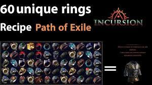 poe unique rings images Path of exile 60 unique rings recipe loreweave jpg