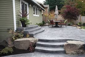 Cement Designs Patio Backyard Cement Patio Ideas Outdoor Goods
