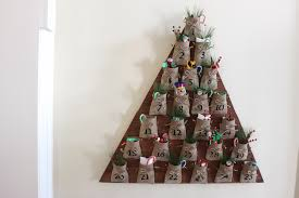 diy tree advent calendar free plans pottery barn inspired