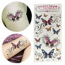 waterproof removable temporary butterfly sticker