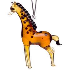 glass standing giraffe ornament animal emporium figurines