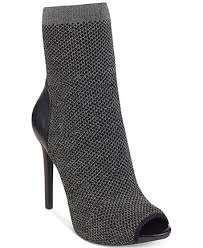 guess boots womens guess s abri peep toe sock booties boots shoes macy s