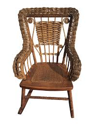 Vintage Childrens Rocking Chairs Antique Wicker Rocking Chair With Springs Home Chair Decoration