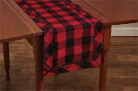 buffalo plaid table runner table runner pine hill collections