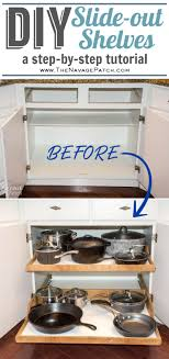 diy kitchen cabinets book diy slide out shelves tutorial the navage patch