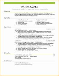Math Teacher Resume Sample by Examples Of Resumes 7 Example A Teacher Resume Expense Report