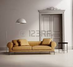 contemporary classic living room beige leather sofa wood floor