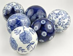 Decorative Spheres For Bowls Decorative Porcelain Balls Set Of 6