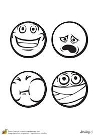 a colorier des émoticônes très content fatigué malade sans