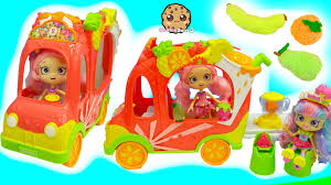 Rainbow Playset 2 Exclusive Season 5 Shopkins In Smoothie Truck Playset Car With