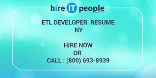 Sample Informatica Etl Developer Resume by Etl Developer Resume Ny Hire It People We Get It Done