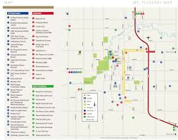 Cities In Michigan Map by Mount Pleasant Michigan Map