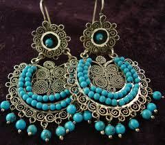 filigree earrings taxco mexican silver beaded multi filigree earrings