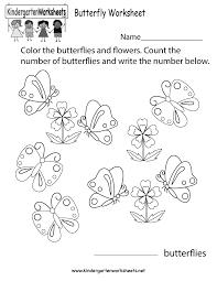free printable butterfly worksheet for kindergarten