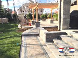 Paver Patios Installed In The Residential Landscaping Project Pictures
