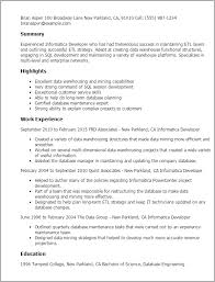 Sample Resume For Sql Developer by Download Informatica Administration Sample Resume