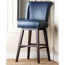 Leather Bar Stool With Back Stools Kent Royal Blue Bonded Leather Bar Stool Acrylic Bar