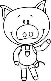 coloring page of a pig perfect minion pig stealing easter eggs