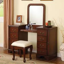 Bedroom Vanity Table Bedrooms Vanity White Wooden Makeup Table With Lighted Rectangle