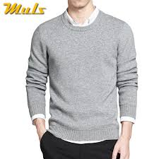 2017 mens pullover sweaters simple style cotton o neck