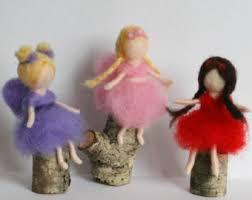 3 flower doll ornaments waldorf fairies
