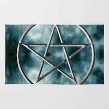Pentacle Rug Pentagram Rugs Society6