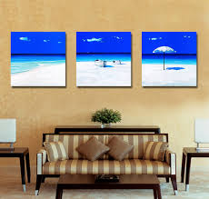 how to hang canvas art without frame blue sea modern canvas art wall decor landscape canvas prints wall