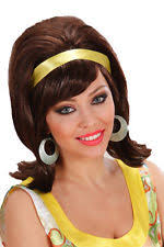 widmann ladies 50s 60s black mod go go fancy dress wig ebay