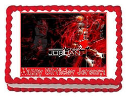 michael cake toppers michael chicago bulls personalized by 69586