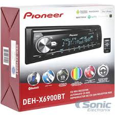 pioneer deh x6900bt single din bluetooth in dash cd am fm car stereo
