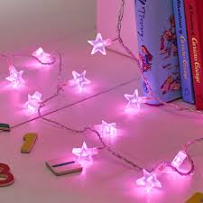 bedrooms slf 30 fs p pink star fairy lights kids bedroom fairy