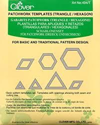 clover patchwork templates square octagon amazon co uk kitchen