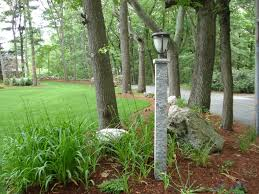 antique 18 front yard light post ideas on granite curbing