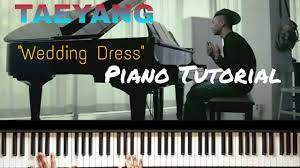 wedding dress chord taeyang wedding dress piano tutorial easy