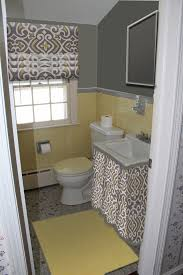 bathroom yellow and gray home design